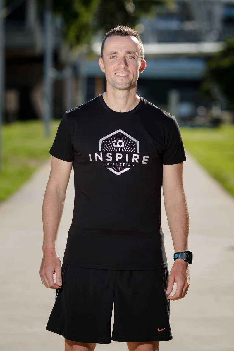 Male Tee with Inspire Athletic Design - Black