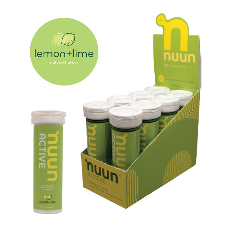 Nuun Active, Lemon & Lime Flavoured Electrolyte Tablets. 10 Tablets per tube