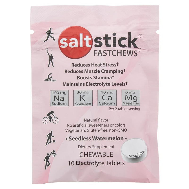SaltStick Fastchews - Seedless Watermelon 10 tablet Pk