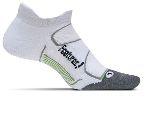 Feetures Socks - Elite Max Cushion - No Tab - White/Black