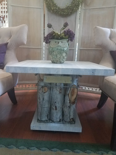 Rustic Industrial Weathered White Table