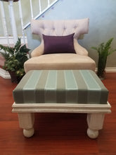 Unique & Classic Upholstered Footstool/Ottoman