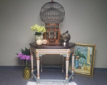 "Vintage Hexagon Table ""Painted Lady"""