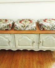 Upcycled Cottage Style Vintage Bench with Storage