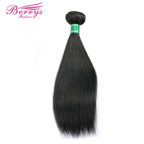 [Berrys Fashion] Brazilian Virgin Straight Hair 1piece 8-34 Inch human hair wave Unprocessed Virgin Human Hair natural color