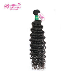 Berrys Fashion Brazilian Human Virgin Hair Deep Weave 1pcs/lot Bulk Hair Extensions Human Hair Weave Bundles Brazilian Deep Wave