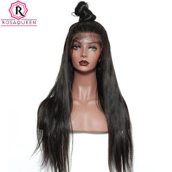 Rosa Queen 250% Density Lace Front Human Hair Wigs For Black Women Straight Brazilian Remy Hair Natural Black Color