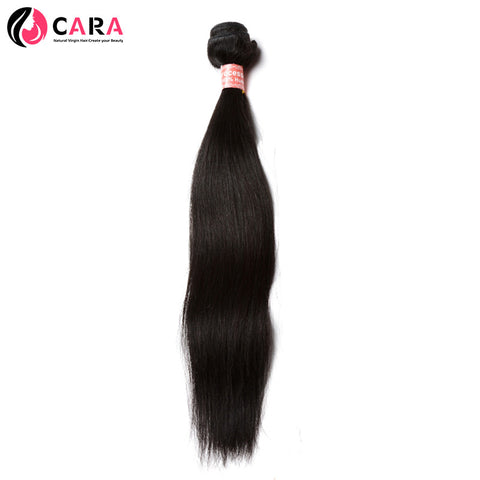 CARA Straight Brazilian Remy Hair Natural Color Machine Double Weft 100% Human Hair Weaving