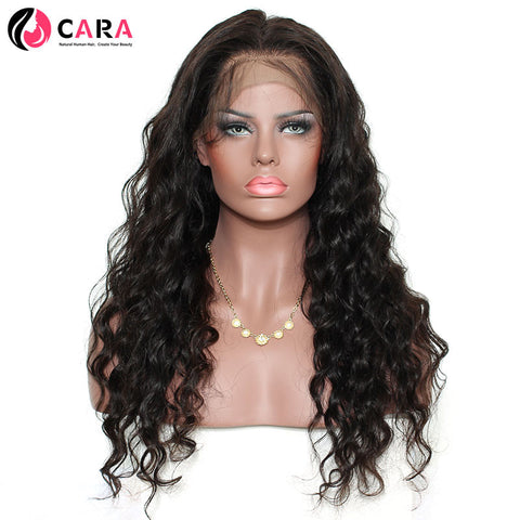 CARA Loose Wave 250% Density Lace Front Human Hair Wigs Brazilian Remy Hair Pre Plucked Natural Hairline With Baby Hair