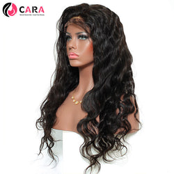 CARA Body Wave 180% Density 360 Lace Frontal Wigs Brazilian Remy Hair Pre Plucked Natural Hairline With Baby Hair
