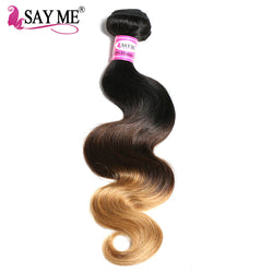 SAY ME Ombre Brazilian Hair Body Wave 1b/4/27 Blonde Non-Remy Human Hair Extensions Weave Bundles Light Brown Colored Hair