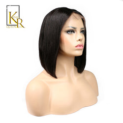 King Rosa Queen Human Hair Short Bob Wigs Brazilian Remy Hair Silky Straight Lace Front Human Hair Bob Wigs For Black Women