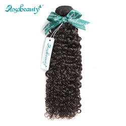 Rosabeauty Kinky Curly Virgin Hair Bundles Unprocessed Malaysian Curly Human Hair Weaving Natural Color