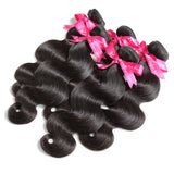 Luvin Brazilian Virgin Hair Body Wave 100% Unprocessed Human Hair Weave Bundles Free Shipping