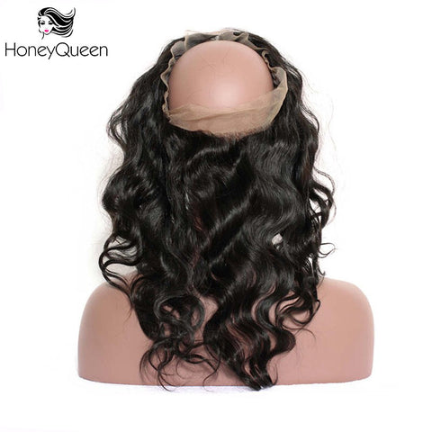 Body Wave 360 Lace Frontal Pre Plucked Brazilian Remy Hair 100% Human Hair Closure With Baby Hair Bleached Knots Honey Queen