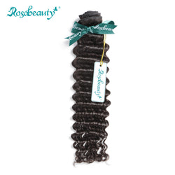 Rosabeauty Deep Wave Remy Hair Bundles 100% Malaysian Curly Human hair Weaving 10''~28'' Available Free Shipping