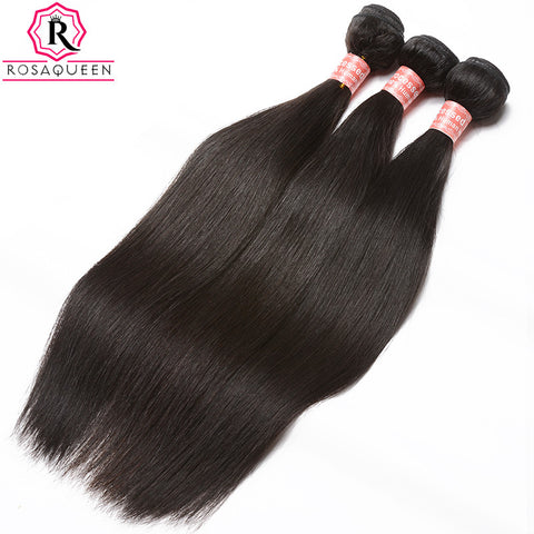 Malaysian Virgin Hair Straight 100% Human Hair Weave Bundles Natural Black Color 1 Piece Rosa Queen Hair Products
