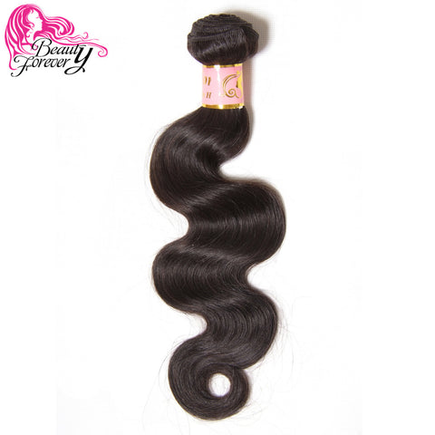 BEAUTY FOREVER Brazilian Virgin Hair Body Wave Natural Color Human Hair Weaves 1 Bundle Only 8inch to 30 inch Free Shipping