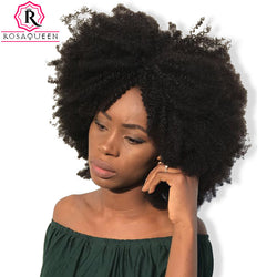 Mongolian Afro Kinky Curly Hair 4B 4C Natural Color 100% Curly Weave Human Hair Bundles 1 Piece Rosa Queen Remy Hair Products
