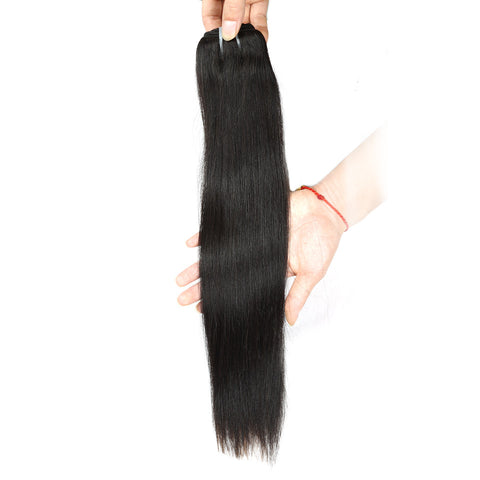 Queen like 1 Piece Soft Human Hair Weave Bundles 8-28 Ali Express Queen like Hair Products Non Remy Natural Color Malaysian Straight Hair