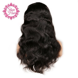 Slove Hair Brazilian Lace Front Human Hair Wigs For Black Women Remy Human Hair Body Wave Wig With Baby Hair Natural Hairline