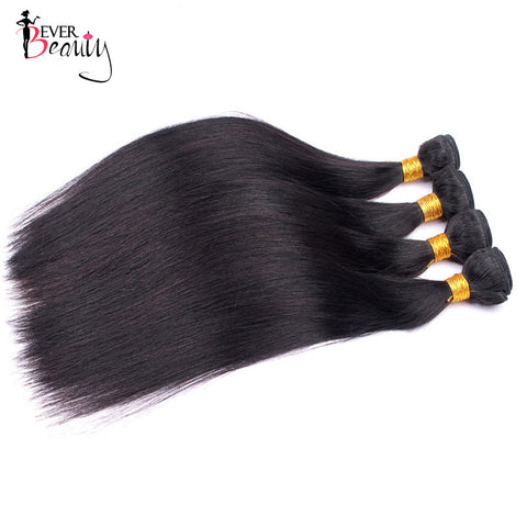Brazilian Hair Weave Bundles Straight Remy Human Hair Weaving Extensions Ever Beauty 1PCS Natural Color