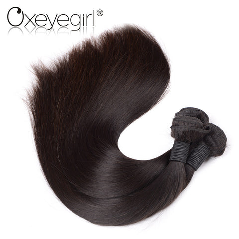 "Oxeye girl Brazilian Virgin Hair Straight 100% unprocessed Human Hair Weave Bundles 10""-28"" Natural Color Machine Double Weft"
