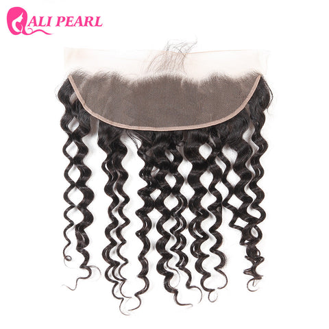 AliPearl Hair Brazilian Remy Hair Water Wave Lace Frontal 13X4 with Baby Hair Human Hair Natural Hairline Color 1b Free Shipping