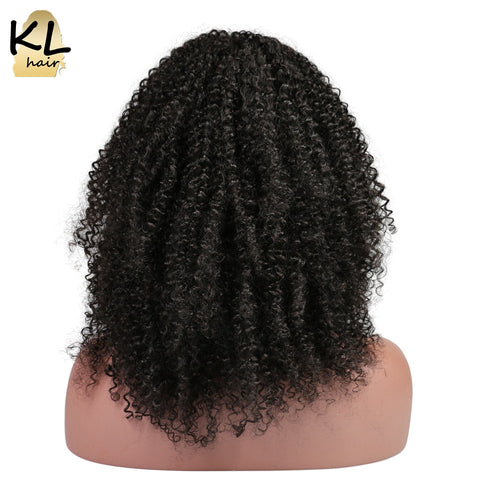 KL Hair Afro Kinky Curly Full Lace Human Hair Wigs Natural Color Brazilian Remy Hair Lace Wigs For Black Women With Baby Hair