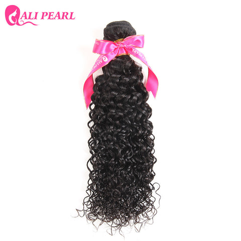 AliPearl Kinky Curly Weave Human Hair Brazilian Hair Weave Bundles Natural Black 1 Piece Only Remy Hair Extensions Free Shipping
