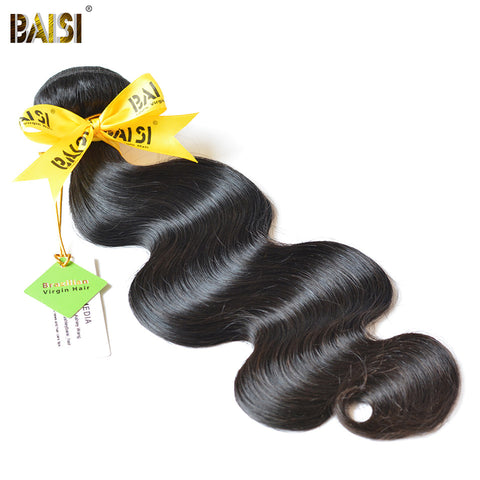 BAISI Body Wave Brazilian Virgin Hair 8-36inch Nature Color 100% Unprocessed Human Hair Bundles Free Shipping