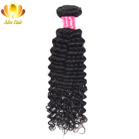 Ali Afee Hair Malaysian Deep Wave 1 Pc 100% Human Hair Extension Natural Black Hair Bundles 100g/pc Can Be Dyed and Restyled