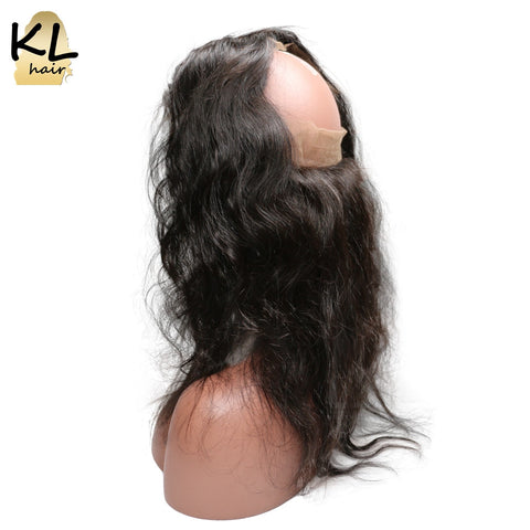 KL Hair Pre Plucked 360 Lace Frontal Body Wave Natural Hairline Lace 360 Frontal Closure Brazilian Remy Hair With Baby Hair