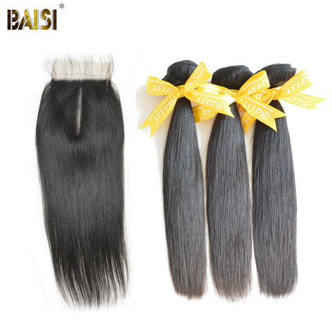 Peruvian straight virgin hair 1 pcs Lace top closure with 3pcs Hair Bundle  ,4pcs/lot,can be dyed,100% human hair extension