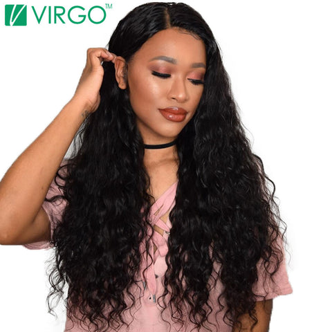 V Only Virgo Brazilian Water Wave Human Hair Extensions 100% Remy Hair Weave Bundles Natural Black Can Be Dyed And Bleached