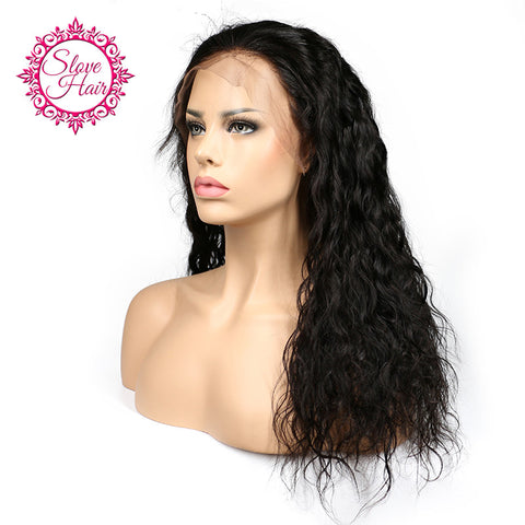 Slove Hair Brazilian Lace Front Human Hair Wigs For Black Women Remy Human Hair Water Wave Wig With Baby Hair Natural Hairline