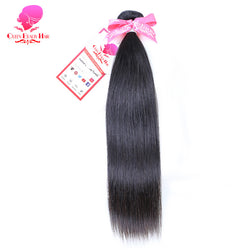 QUEEN BEAUTY HAIR Straight Brazilian Virgin Hair Weave Bundles Unprocessed Human Hair Extensions Natural Color Free Shipping