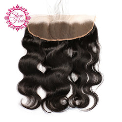 Slove Hair Brazilian Lace Frontal Closure Body Wave 13x4 Free Part Remy Human Hair Bleached Knots Pre Plucked With Baby Hair