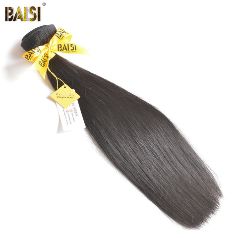 BAISI Hair,100% Unprocessed Human Hair Peruvian Straight Virgin Hair,Natural Color,10-34inches Free Shipping