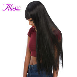 Alishes Hair Products 100g Brazilian Straight Hair Bundles 100% Human Hair Weave 1 Piece Non Remy Hair Natural Color