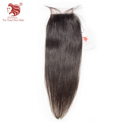 [FYNHA] Brazilian Virgin Hair Lace Closure Straight  100% Human Hair Free Part 4''x 4'' Free Shipping