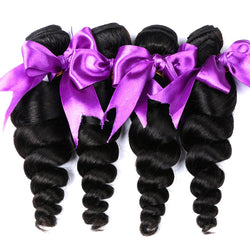 Alishes Hair Peruvian Loose Wave Hair Bundles Real 100% Remy Human Hair Extensions 8-28 inch Natural Color Hair Weaving