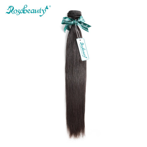 "Rosabeauty 1 Piece Peruvian Virgin Hair Weaving Straight Human Hair Weft Bundles 8""- 28"" Free Shipping"