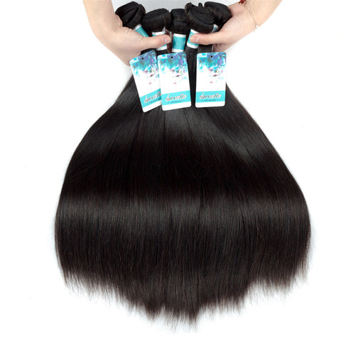 Sweetie Raw Indian Hair Straight 100% Human No Remy Hair Extensions 100g 8-30 Inch 1 Piece Only Natural Black Free Shipping