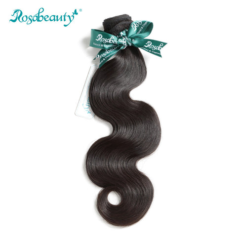 "Rosabeauty Brazilian Virgin Hair Weave Bundles Body Wave Natural Color 100% Human Hair Wefts 8"" to 28"" Free Shipping"