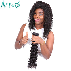Ali Berrys Hair Deep Wave Peruvian Remy Hair Natural Color 8-28 Inches 100% Human Hair Bundles Free Shipping