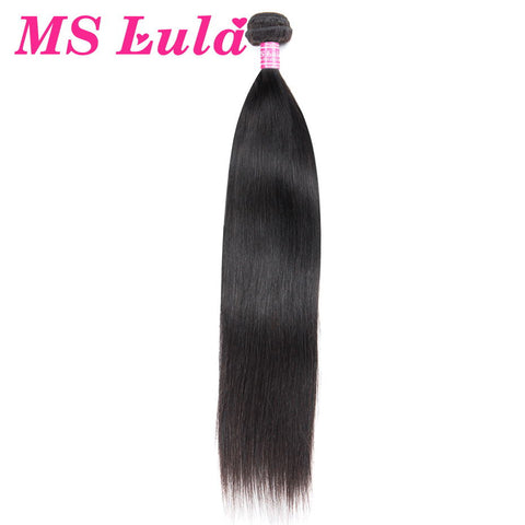 MS Lula Hair 1 Bundle Straight Brazilian Hair 100% Human Hair Natural Color Remy Hair Bundles Free Shipping