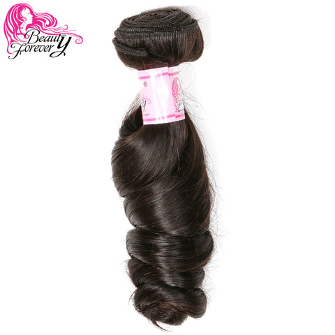 Beauty Forever Hair 1 Piece Brazilian Hair Loose Wave Non-remy Human Hair Weave Bundles Natural Color 16-26 Inch Free Shipping