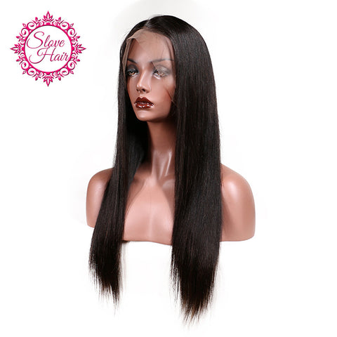 Slove Hair Brazilian Lace Front Human Hair Wigs For Black Women Remy Human Hair Straight Wig With Baby Hair Natural Hairline