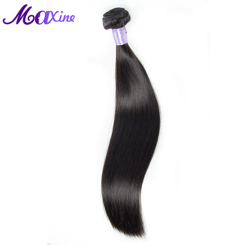 Maxine Hair Company Brazilian Remy Hair Straight 100% Real Human Hair Weaving Double Weft Hair Bundle Deal Sew In Weave